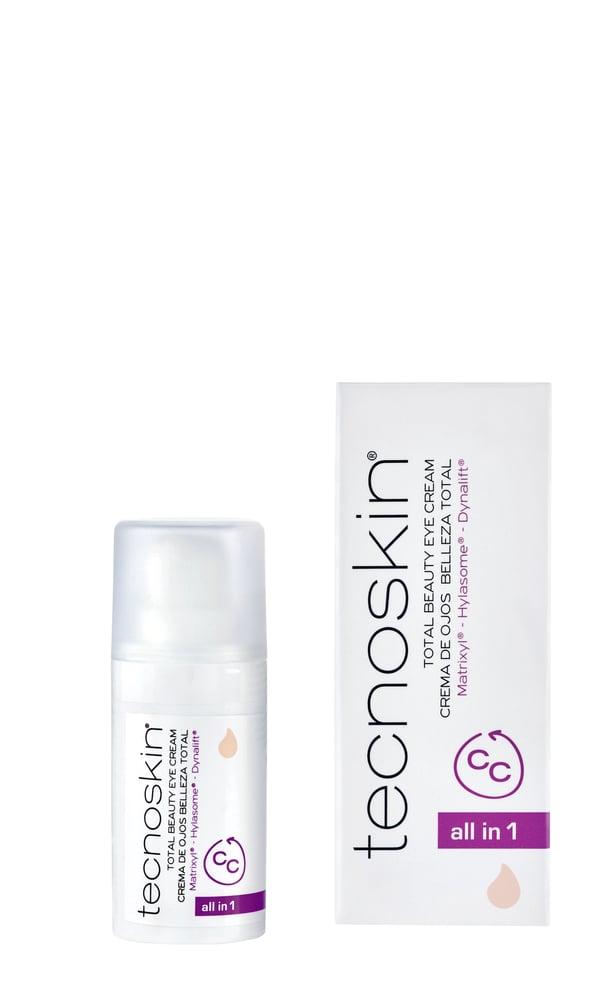 Tecnoskin Total Beauty Eye Cream Αντιρυτιδική Kρέμα Ματιών με Χρώμα All in One για την Κάλυψη των Μαύρων Κύκλων, 15ml