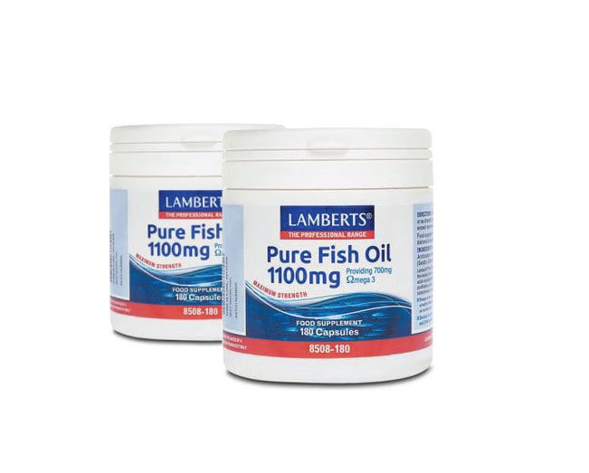 LAMBERTS PURE FISH OIL 1100MG, 2x 180 caps