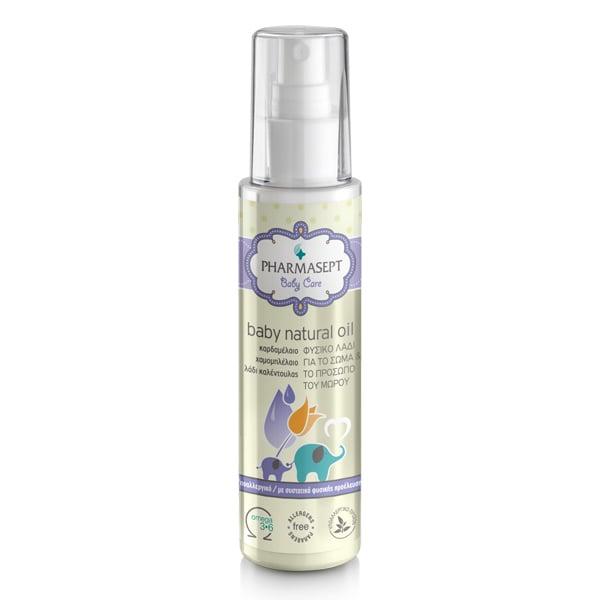 Pharmasept Baby Care Tol Velvet Baby Natural Oil Βρεφικό Υποαλλεργικό Λάδι Ενυδάτωσης & Φροντίδας, 100ml