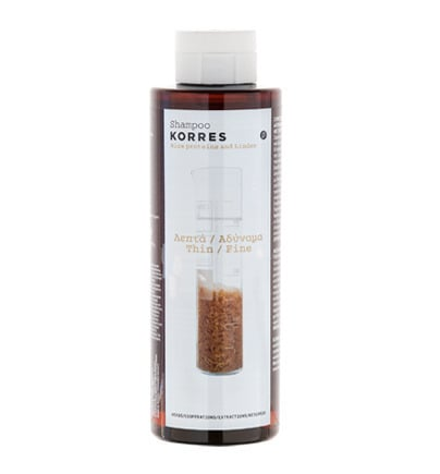 Korres Σαμπουάν για Λεπτά & Αδύναμα με Πρωτεΐνες Ρυζιού & Τίλιο, 250ml