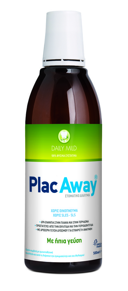 Plac Away Daily Mild Oral Solution with Fresh Peppermint Flavour, 500ml