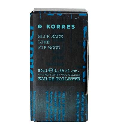Korres Eau de Toilette Blue Sage / Lime / Fir Wood Άρωμα για Άνδρες, 50ml