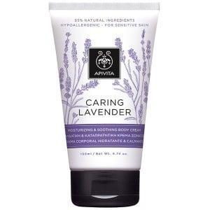 Apivita Caring Lavender Υποαλλεργική, Ενυδατική & Καταπραϋντική Κρέμα Σώματος με Λεβάντα & Ελαιόλαδο, 150ml