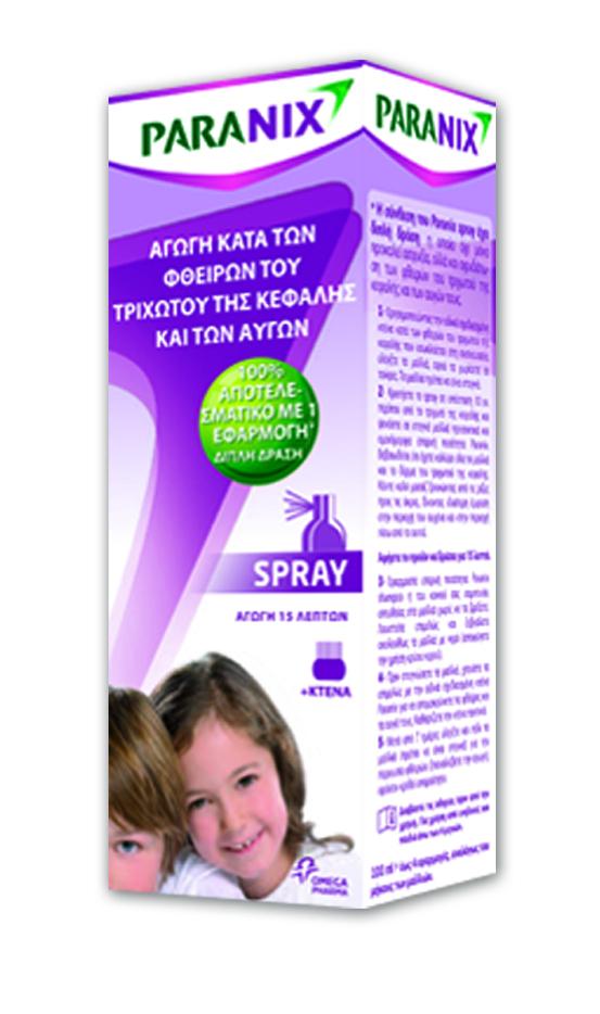 Paranix Spray Σπρέι Aγωγή που εξαλείφει Ψείρες & Κόνιδες με μία Εφαρμογή 6m+, 100ml