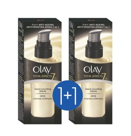 Olay Total Effects Instant Smoothing Serum Ενισχυμένος Ορός Εντατικής Ενυδάτωσης (1+1 ΔΩΡΟ), 2 x 50ml