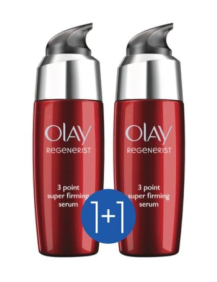 Olay Regenerist 3 Point Super Firming Serum Συμπυκνωμένος Ορός Σύσφιξης για Πρόσωπο, Λαιμό & Ντεκολτέ (1+1 ΔΩΡΟ), 2 x 50ml
