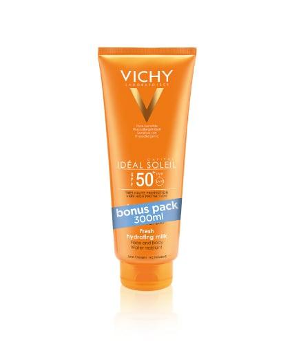 Vichy Ideal Soleil SPF50+ Αντηλιακό Γαλάκτωμα για την Προστασία Προσώπου & Σώματος, 300 ml