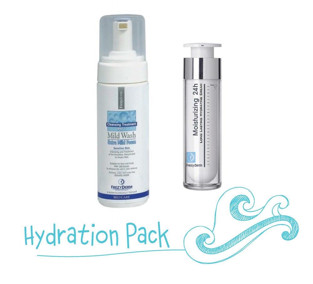 Frezyderm Hydration Pack με Mild Wash Extra Mild Foam Απαλός Αφρός Καθαρισμού για Πρόσωπο & Σώμα, 150ml & Moisturizing 24h 20+ Ενυδατική Κρέμα για το Πρόσωπο & το Λαιμό, 50ml