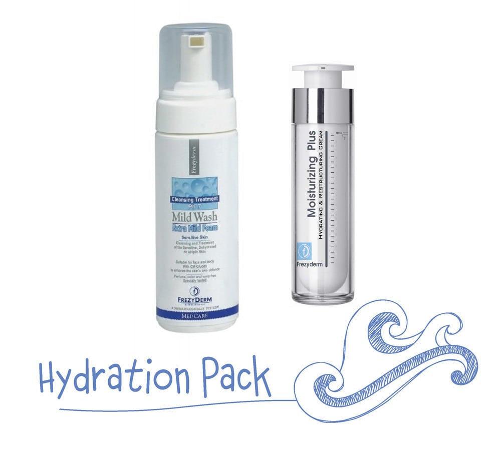 Frezyderm Hydration Pack με Mild Wash Extra Mild Foam Απαλός Αφρός Καθαρισμού για Πρόσωπο & Σώμα, 150ml & Moisturizing Plus Cream 30+ Πλούσια & Απαλή Κρέμα για Πρόσωπο & Λαιμό, 50ml