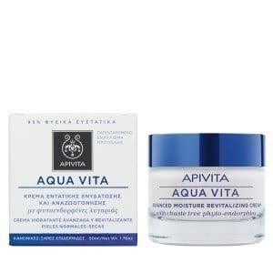 Apivita Aqua Vita Advanced Κρέμα Εντατικής Ενυδάτωσης για Κανονικές - Ξηρές Επιδερμίδες, με Φυτοενδορφίνες Λυγαριάς, 50ml