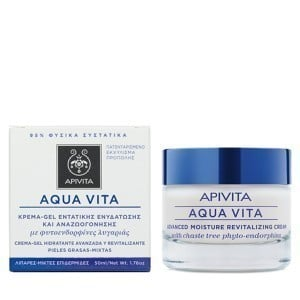 Apivita Aqua Vita Advanced Κρέμα Gel Εντατικής Ενυδάτωσης για Λιπαρές - Μικτές Επιδερμίδες, με Φυτοενδορφίνες Λυγαριάς, 50ml