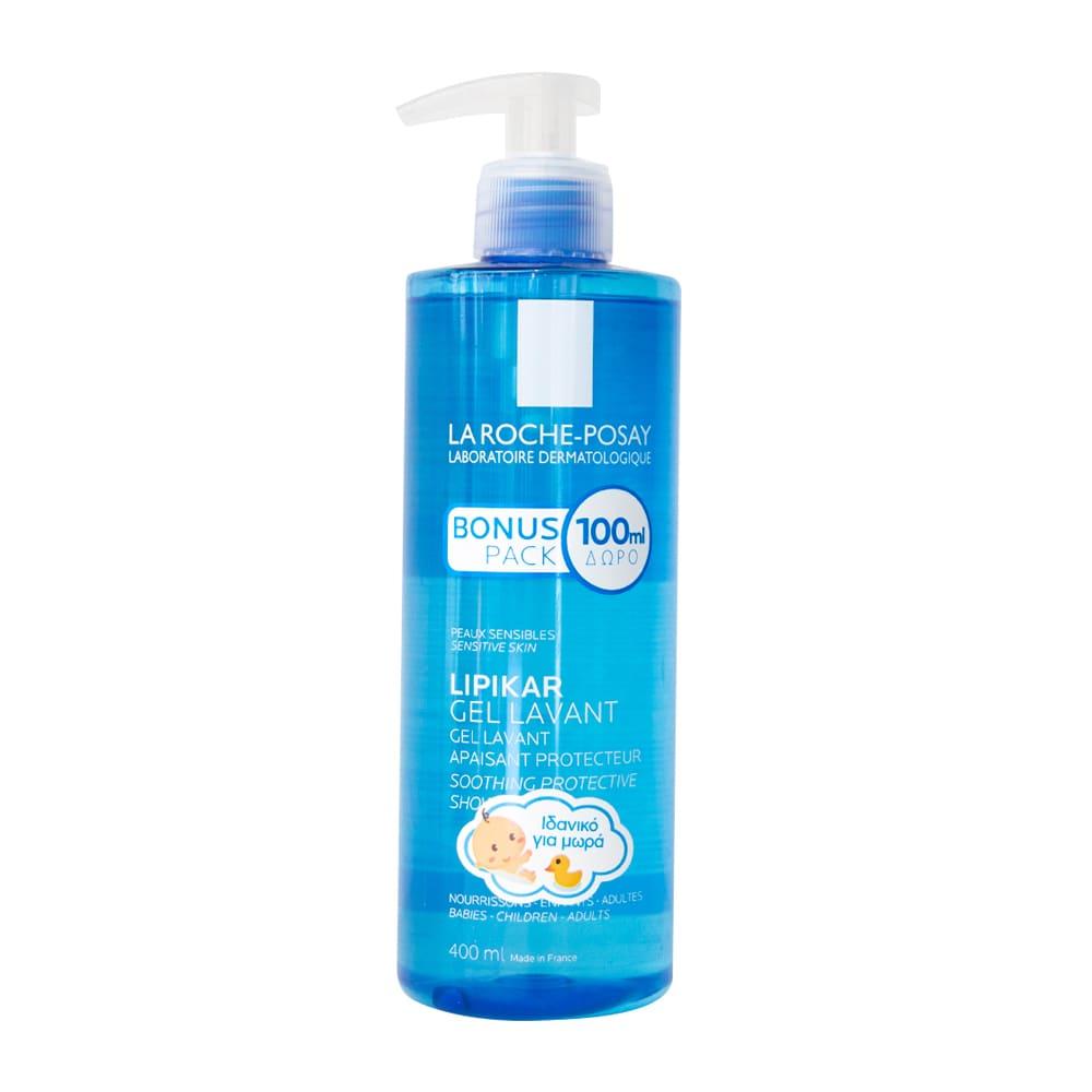 La Roche Posay Lipikar Gel Lavant, Απαλός Καθαρισμός Προσώπου & Σώματος, 400 ml