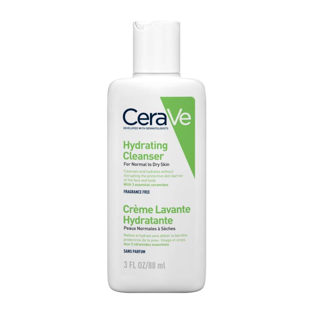 Cerave Hydrating Cleanser Κρέμα Καθαρισμού για Κανονικό έως Ξηρό Δέρμα, 88ml