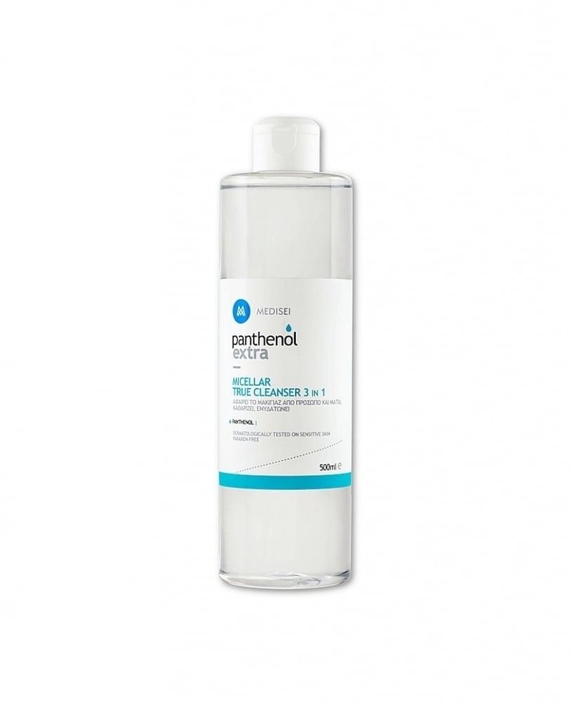 Panthenol Extra Micellar True Cleanser 3 in 1 Καθαριστική Λοσιόν Προσώπου & Ματιών, 500ml