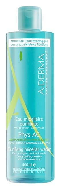 A-Derma Phys-AC Eau Micellaire Purifiante Εξυγιαντικό Νερό Καθαρισμού με Μικύλλια για Δέρματα με Τάση Ακμής, 400ml