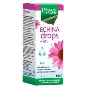 Power Health Echina DROPS + Vit C Συμπλήρωμα Διατροφής με Εκχύλισμα του Φυτού Εχινάτσεια & Βιταμίνη C, 50ml