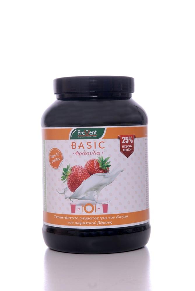 Prevent Basic Slim L - Box Υποκατάστατο Γεύματος με Υδατάνθρακες, με Γεύση Φράουλας, 581gr