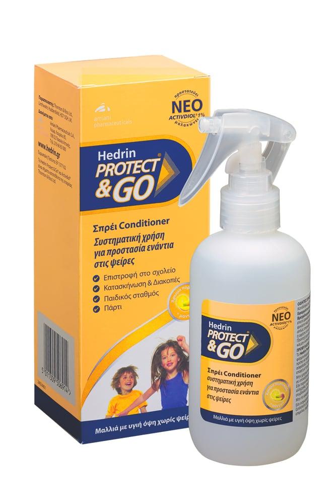Hedrin Protect & Go Προληπτική Αντφθειρική Λοσιόν από 6m+, με Άρωμα Πορτοκάλι Μάνγκο, 200ml