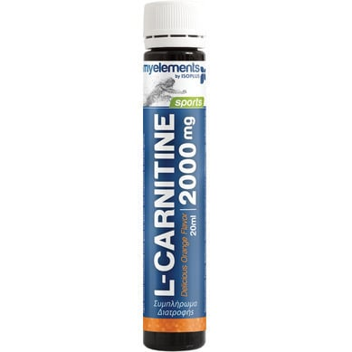 MyElements Sports L-Carnitine 2000mg Liquid Υγρή Καρνιτίνη με Ευχάριστη Γεύση Πορτοκάλι, 12x 20ml