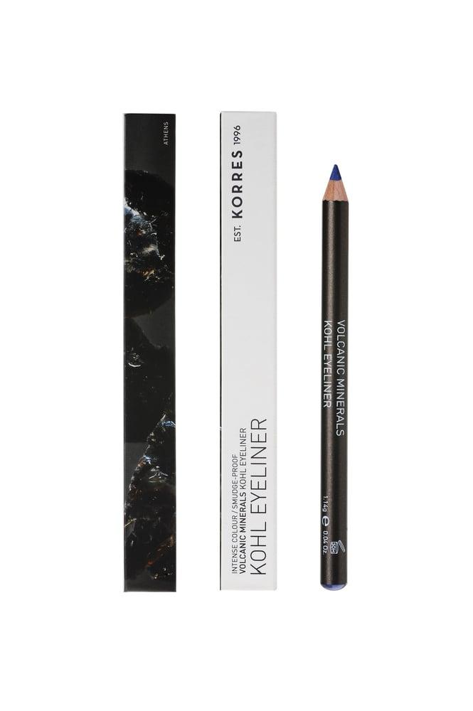 Korres Volcanic Minerals Professional Kohl Eyeliner Μολύβι Ματιών με Μαλακή Υφή για το Εσωτερικό των Ματιών, Απόχρωση 04 Μπλε, 1.14gr
