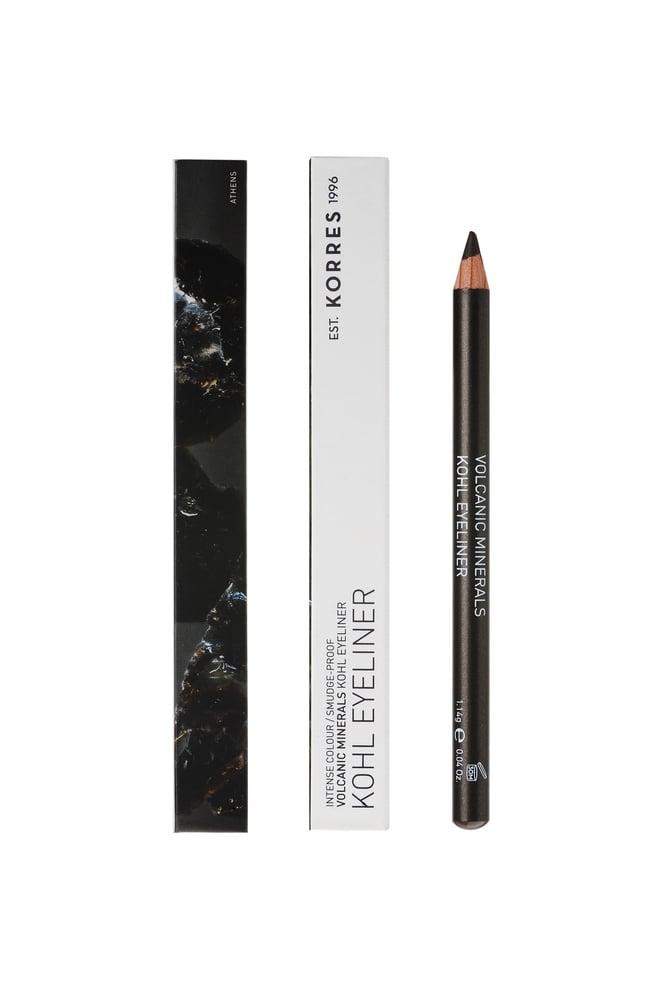 Korres Volcanic Minerals Professional Kohl Eyeliner Μολύβι Ματιών με Μαλακή Υφή για το Εσωτερικό των Ματιών, Απόχρωση 02 Καφέ, 1.14gr