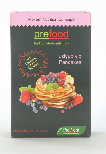 Prevent Prefood Pancakes Πανκέϊκς με 66.5% Πρωτεΐνη, 108gr