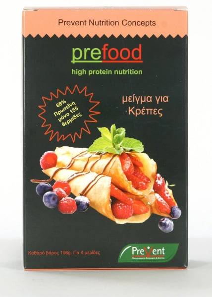 Prevent Prefood Crepes Κρέπες με 68% Πρωτεΐνη, 106gr
