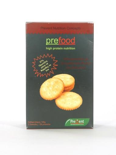 Prevent Prefood Savory Biscuits Αλμυρά Μπισκοτάκια Υψηλής Πρωτεΐνης με Ντομάτα & Ρίγανη, 100gr