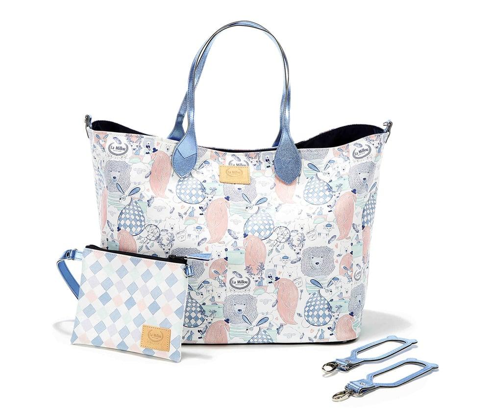 La Millou Family Mommy's Bag Τσάντα για τη Μητέρα, 1 Μεγάλη Τσάντα, 1 Μικρό Τσαντάκι & 2 Γάντζοι