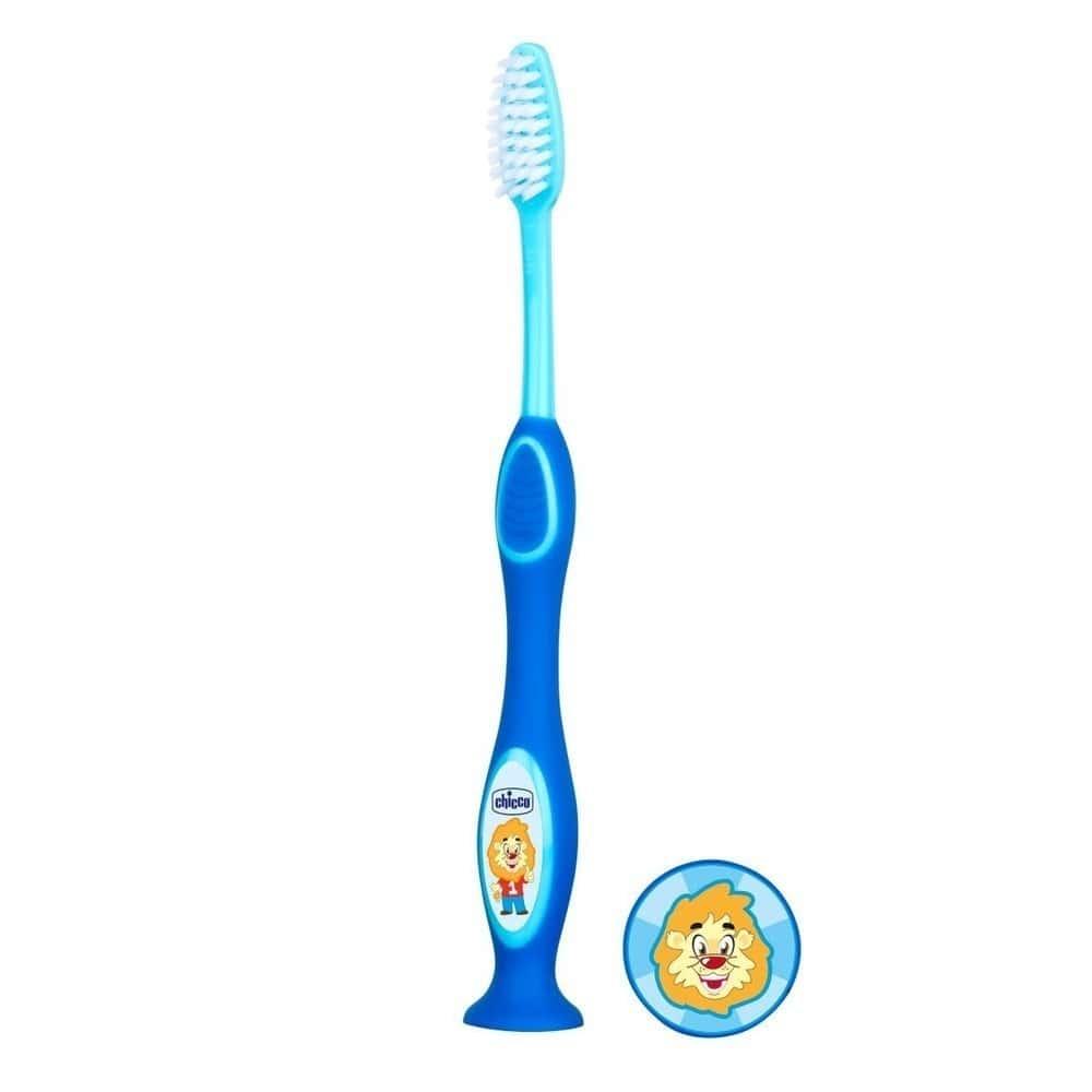 Chicco Παιδική Οδοντόβουρτσα 3-6 ετών, Μπλε Χρώμα, 1 τεμάχιο