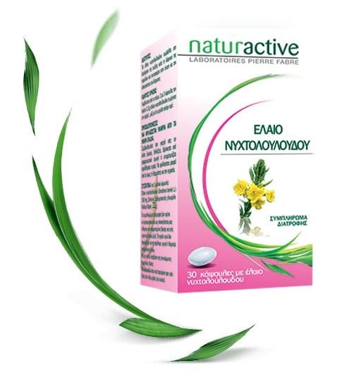 Naturactive Έλαιο Νυχτολούλουδου για τη Γυναικεία Υγεία κατά τη Διάρκεια της Εμμήνου Ρύσης, 30 tabs