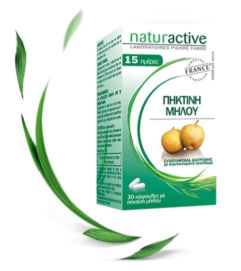 Naturactive Πηκτίνη Μήλου Συμπλήρωμα Διατροφής για την Επίσπευση του Αισθήματος Κορεσμού κατά τη Διάρκεια της Δίαιτας, 30 tabs