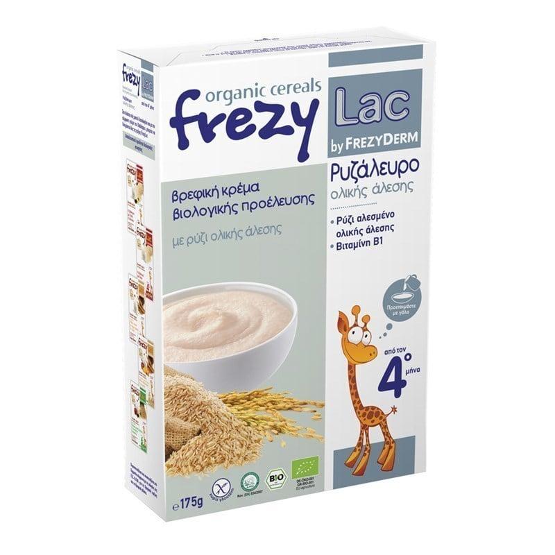 Frezylac Organic Cereals Ρυζάλευρο Ολικής Άλεσης από τον 4ο Μήνα, 175gr