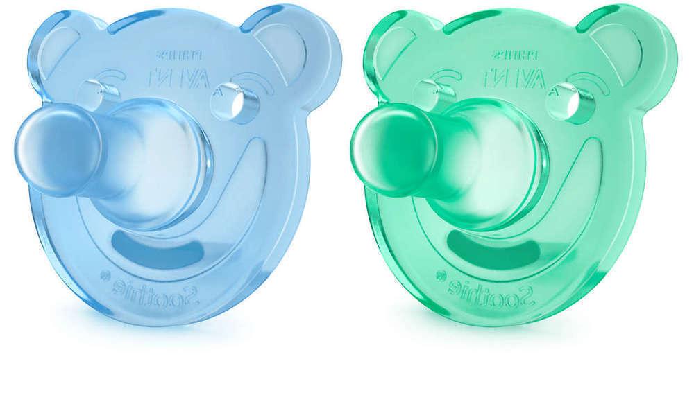 Philips Avent SCF194/01 Soothie Πιπίλα Σιλικόνης 0-3m, Μπλε - Πράσινο, 2 τεμάχια