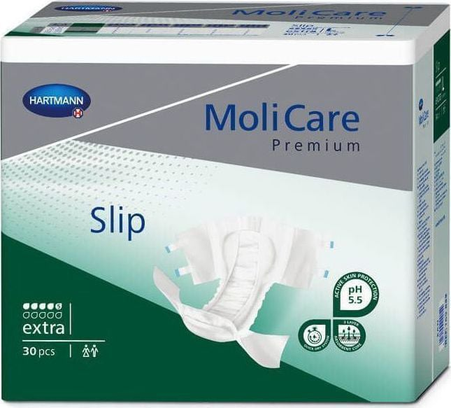 Hartmann Moli Care Premium Slip Extra Σλιπ Ημέρας για Μέτρια Ακράτεια, Μέγεθος Medium (169647), 30 τεμάχια
