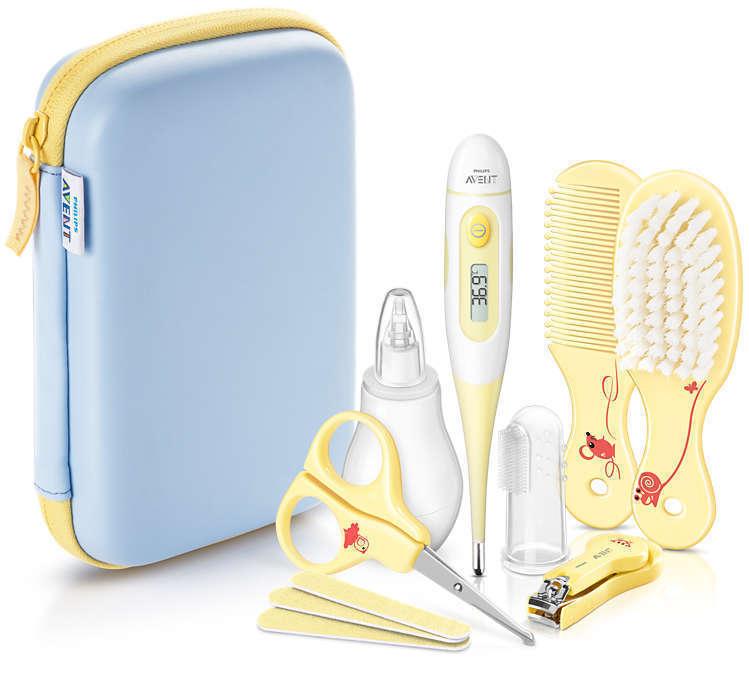 Philips Avent SCH400/00 Baby Care Set Σετ για την Οολοκληρωμένη Περιποίηση του Μωρού σας μέσα σε Πρακτικό Τσαντάκι, 1 set