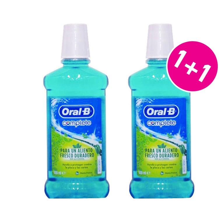 OralB Complete Στοματικό Διάλυμα με Άρωμα Μέντας (1+1 ΔΩΡΟ), 2 x 500ml