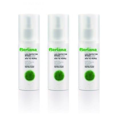 3 x Power Health Fleriana Anti Lice Shampoo Φυσικό σαμπουάν για την απομάκρυνση της ψείρας και της κόνιδας, 3 x 100ml