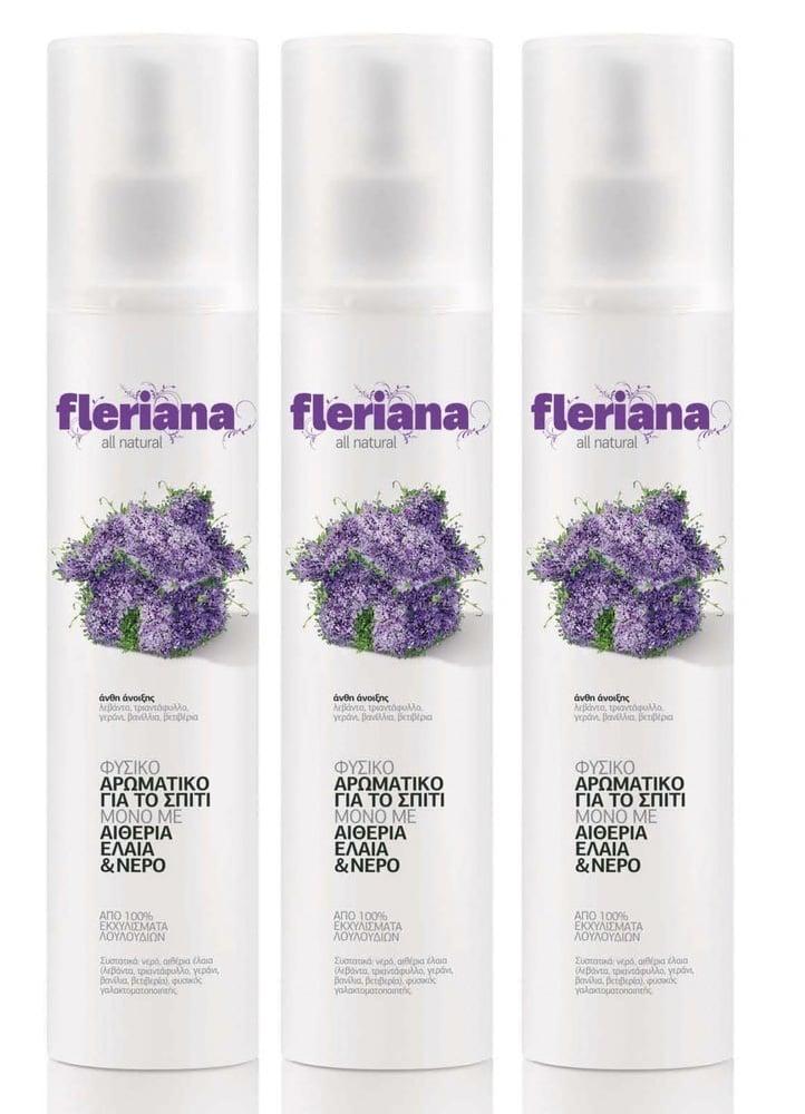 3 x Power Health Fleriana φυσικό Αρωματικό Χώρου, Άνθη της Άνοιξης, 3 x 250ml