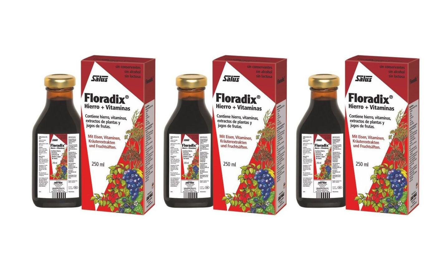 3 x Power Health Floradix Γυναικείο Τονωτικό Συμπλήρωμα, 3 x 250ml