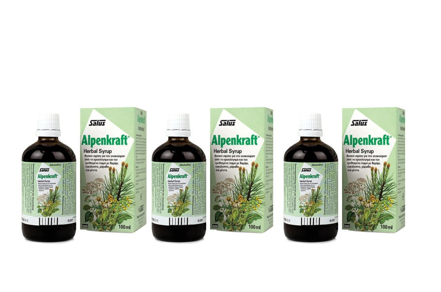 3 x Power Health Salus Alpenkraft Syrup Σιρόπι για το βήχα, 3 x 100ml