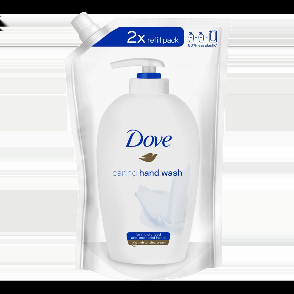 Dove Caring Hand Wash Ανταλλακτικό Υγρό Κρεμοσάπουνο με 1/4 Ενυδατική Κρέμα, 500ml