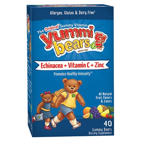 Hero Yummi Bears Echinacea + Vit C & Zinc Ζελεδάκια με εχινάτσια, βιταμίνη C & ψευδαργύρο, για το ανοσοποιητικό σύστημα των Παιδιών, 40 gummies