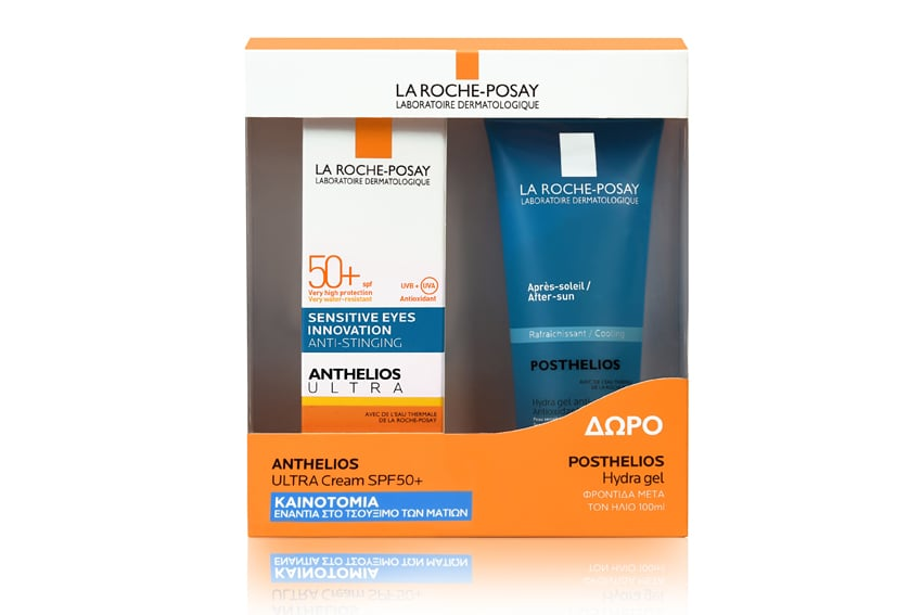 La Roche Posay Promo Anthelios Ultra Cream SPF50+ Πλούσιο Αντηλιακό Προσώπου κατά των πανάδων, 50ml & ΔΩΡΟ Posthelios After Sun σε ειδική συσκευασία, 100ml