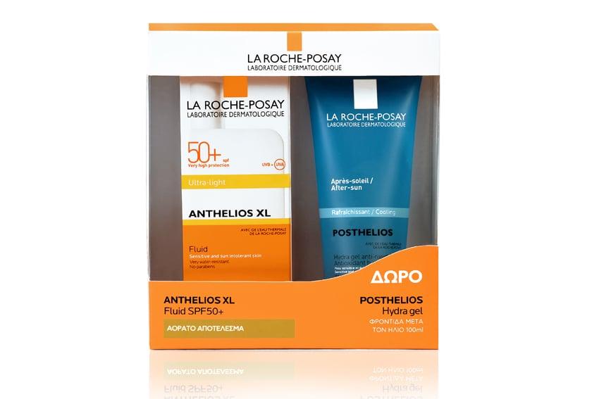 La Roche Posay Promo Anthelios Ultra Fluid SPF50+ Λεπτόρρευστο Αντηλιακό Προσώπου κατά των πανάδων, 50ml & ΔΩΡΟ Posthelios After Sun σε ειδική συσκευασία, 100ml
