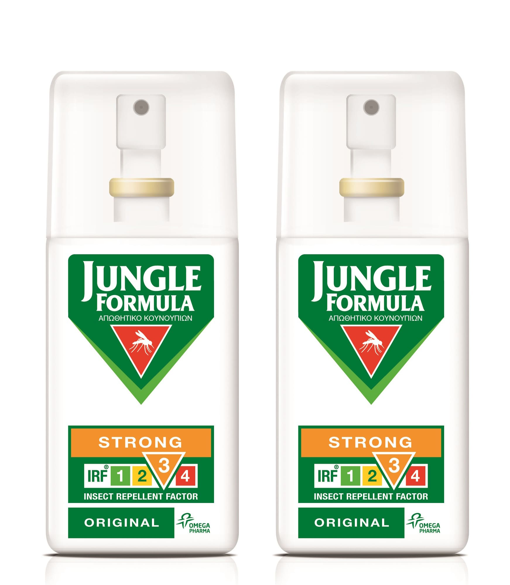 2x Jungle Formula Strong Original Αντικουνουπικό spray με 20% περιεκτικότητα Deet & φυτικά εκχυλίσματα, 2 x 75ml