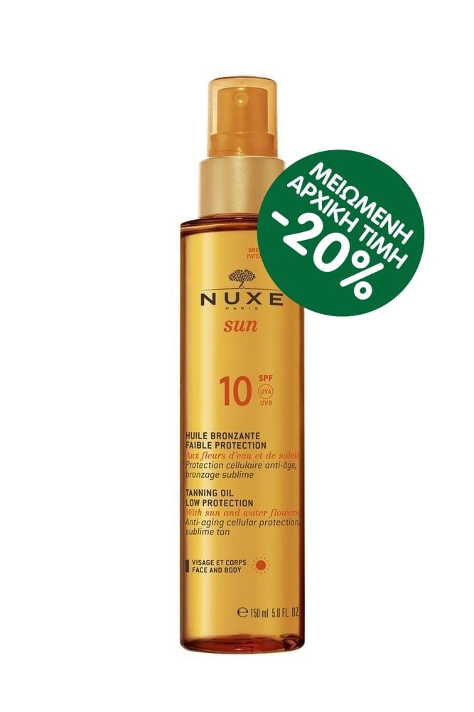 Nuxe Sun Huile Bronzante Visage et Corps SPF10 Λάδι Μαυρίσματος για Πρόσωπο & Σώμα, 150ml