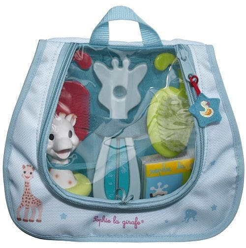 Sophie la Girafe Bath Essentials 523518 Σετ για τα πρώτα μπανάκια με βούρτσα, 1 τεμάχιο, χτένα, 1 τεμάχιο, βιβλίο μπάνιου, 1 τεμάχιο & παιχνίδι μπάνιου, 1 τεμάχιο