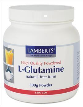 LAMBERTS L-GLUTAMINE POWDER, σκόνη, 500 gr