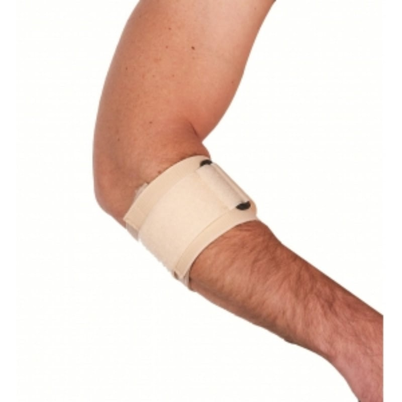 ADCO Δέστρα Επικονδυλίτιδας Ελαστική (03105) Κατασκευασμένη από υφάντο ελαστικό ύφασμα, Κλείσιμο με δέστρα και Velcro, Κατάλληλη για πρόληψη και θεραπεία επικονδυλίτιδας, Ένα μέγεθος, 1 τεμ